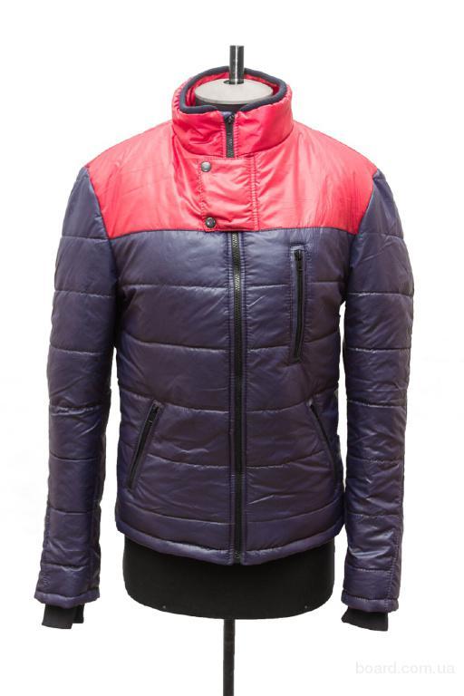 Куртка мужская клапан синяя с кокеткой