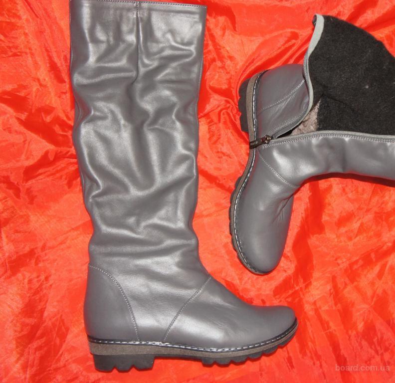 Кожаные женские сапоги ТМ Nivelle на узкие ножки 38 р