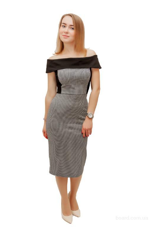Платье Шикардос 1 черно-белая