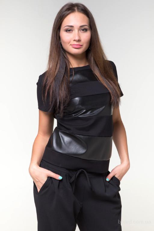 Блузка черная Параллель
