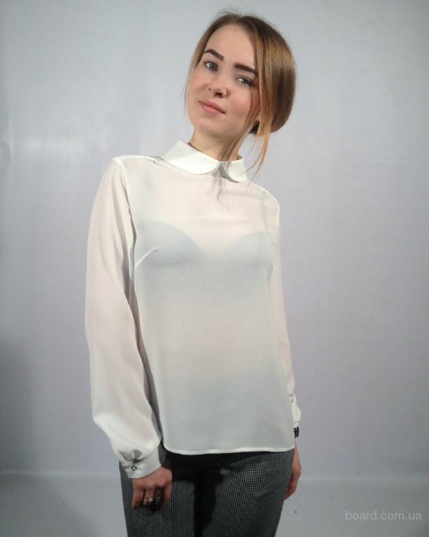 Блузка С Круглым Воротником