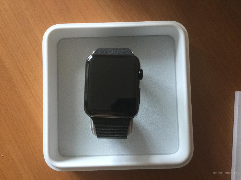 Продам новые Apple Watch Space Black Stainless Steel Case with Black Sport Band 42 мм
