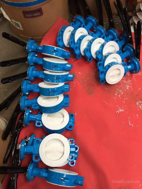 поставляю шаровые краны и затворы дисковые с футеровкой фторопластом из Китая