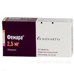 Фемара табл 2,5мг №30, Novartis Pharma,Швейцария