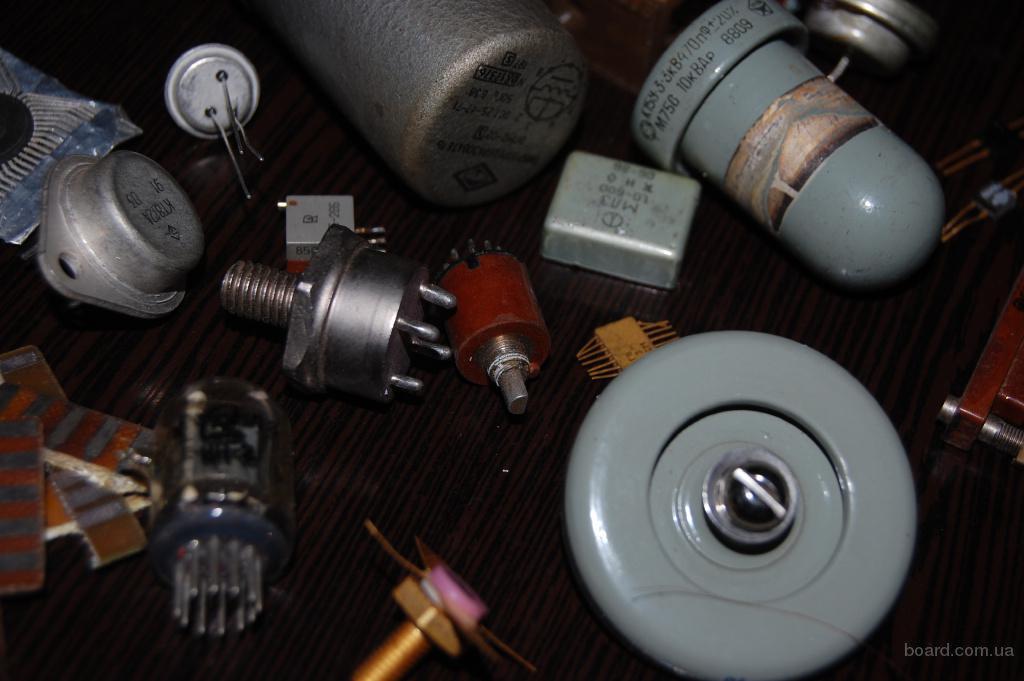 Куплю Радиодетали, приборы, контакты, радиолампы, платы