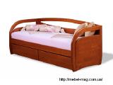 Кровать деревянная Бавария с ящиками