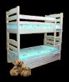 """Детская двухъярусная кровать """"Кузя-2"""" из натурального дерева"""