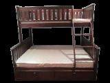 Трехспальная детская кровать из дуба от производителя