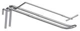 Крючок двойной с Т-держателем, для решетки, 100мм.