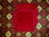 Коврик шерстяной (накидка на табурет/стул) размер 40 х 40 см.
