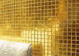 Мозаика золотая. Зеркальная плитка золотого цвета. Плитка золотая зеркальная с фацетом.Золотая зеркальная плитка