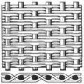 Сетка тканая нержавеющая фильтровая 12Х18Н10Т саржевое плетение