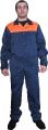 Костюм рабочий, куртка синяя с оранжевой кокеткой и брюки