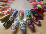 Наращивание ногтей, маникюр и покрытие гель-лаком с дизайном, make-up