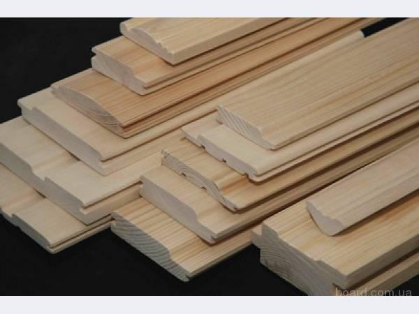 Стругання дерев'яних заготовок, прогонка на 4-х сторонньому верстаті, послуги профілювання.