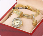 Киев.Женские часы-браслет Pandora, браслет с часами Пандора (золотые)
