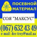 Продаю семена сои, семена сои, сорт Максус , соя от компании DER TREY