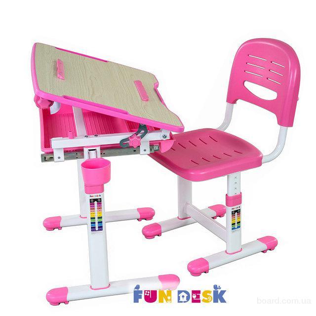 Парта-растишка Fun Desk и стул -трансформер Bambino