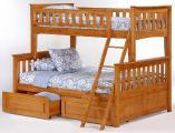 Двухъярусная трехместная кровать Жасмин