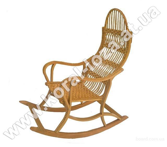 Плетеное Кресло-качалка из лозы (разборная)