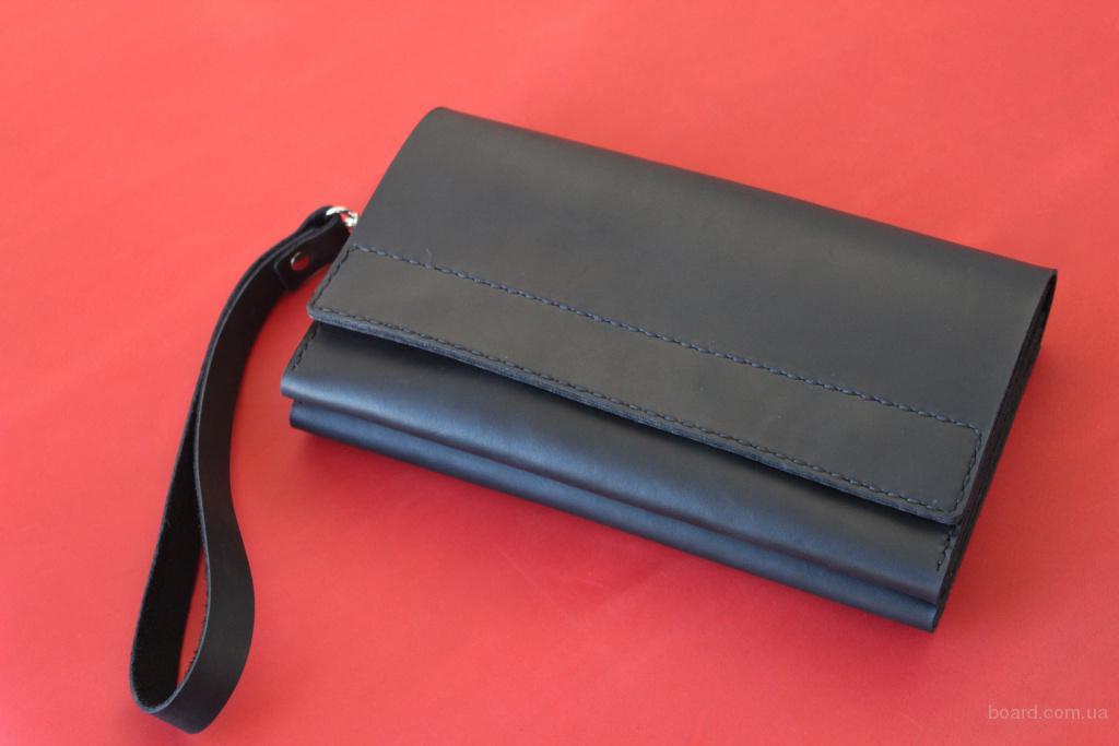 Кожаный клатч (барсетка) - стильный аксессуар.