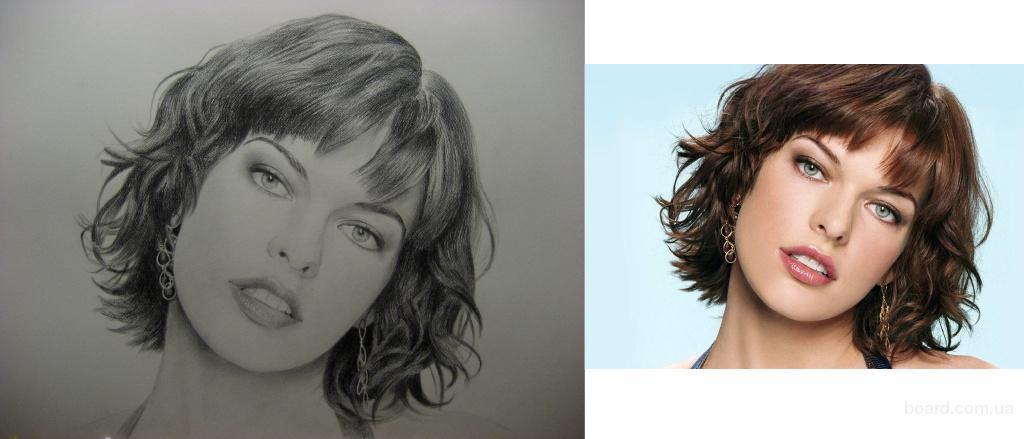 Шикарный портрет Миллы Йовович 50 70см