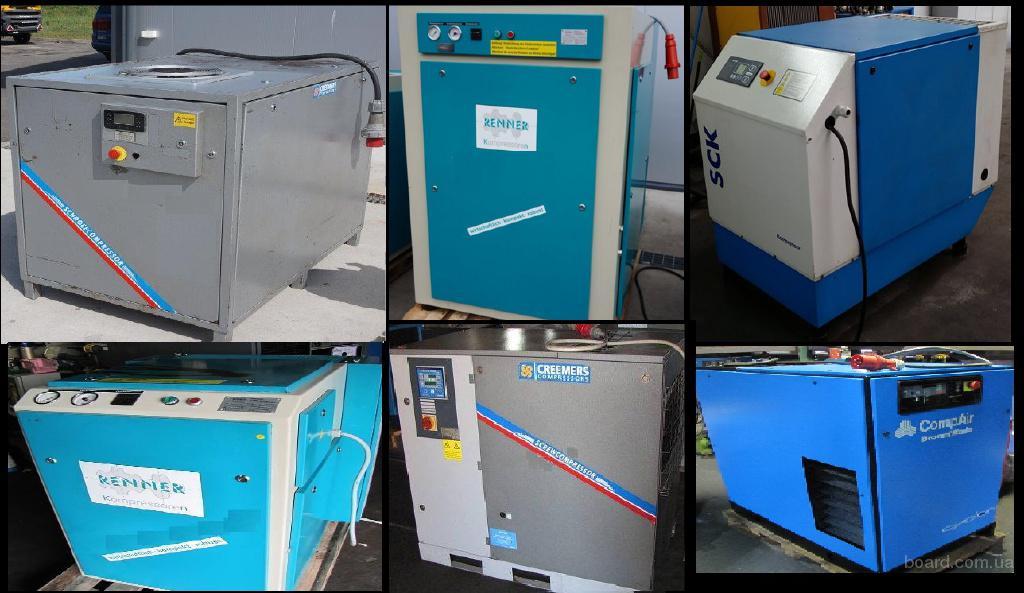 Винтовой компрессор  ,Creemers,Atmos, Renner, Alup, Wan,CompAir (Б/У)