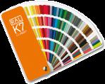 RAL K7 Каталог цветов, РАЛ К7, веер, раскладка, палитра
