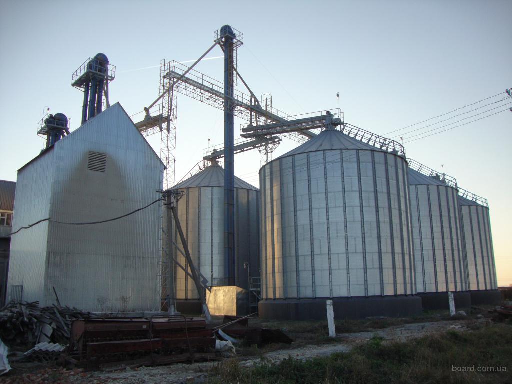 Силос (зернохранилище) с плоским днищем