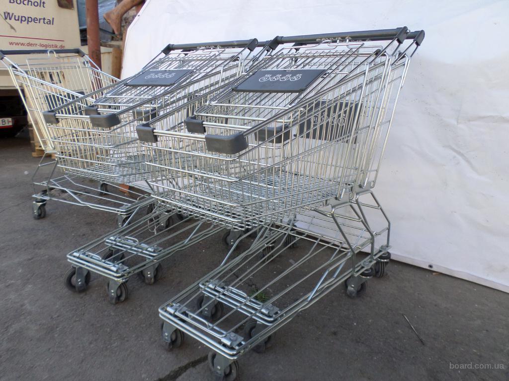 Торговые металлические тележки 80 L, покупательские тележки, тележки для супермаркета.
