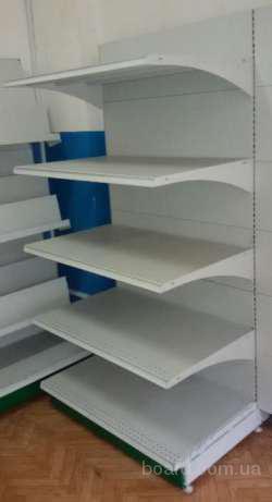 Продам металические торговые стеллажи бу. Высота 2 м, ширина 1 м.