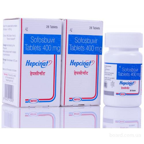 Продажа Hepcinat/Гепцинат + Natdac/НатДак Индия, Natco