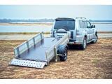 Прицеп бортовой складной для квадроцикла, мототехники и прочих грузов