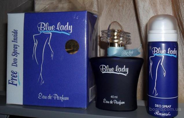 Rasasi Blue Lady Eau De Parfum 40ml./deo75ml.W.coff