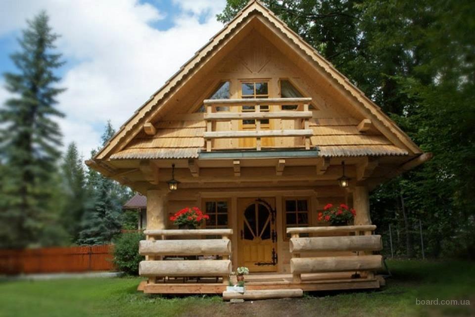 Строительство домов, бань из дикого сруба