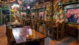 мебель для ресторана кафе бара и декор чучело рога