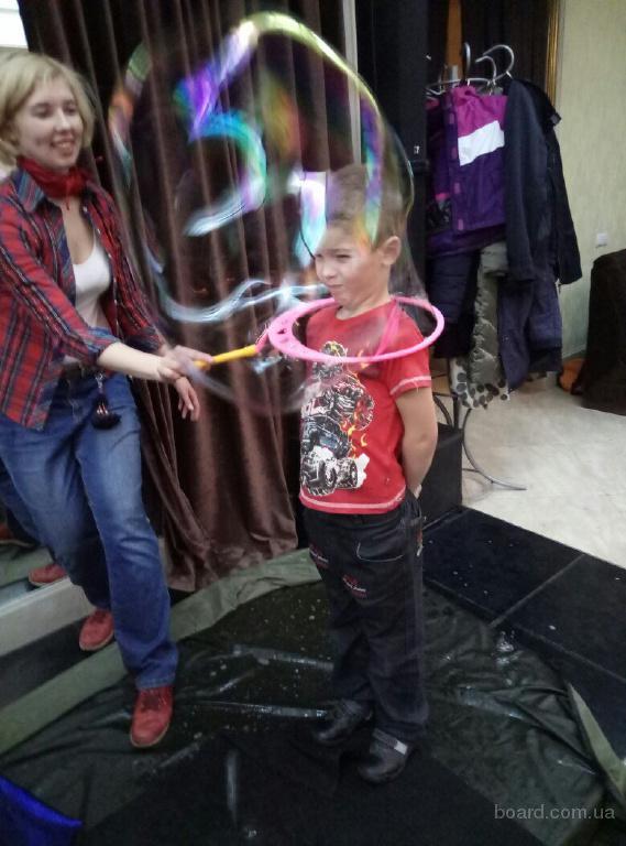 Шоу Мыльных Пузырей в Киеве. Мыльные пузыри на день рождения!