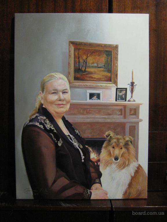 Портрет маслом Альбины Николаевны с Лией