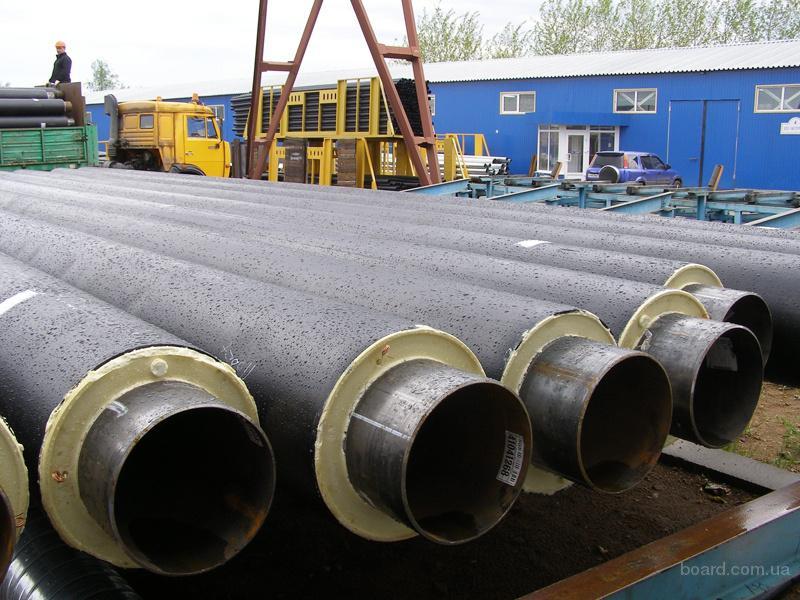 Труба теплоизолированная стальная в пэ оболочке 325/450 мм