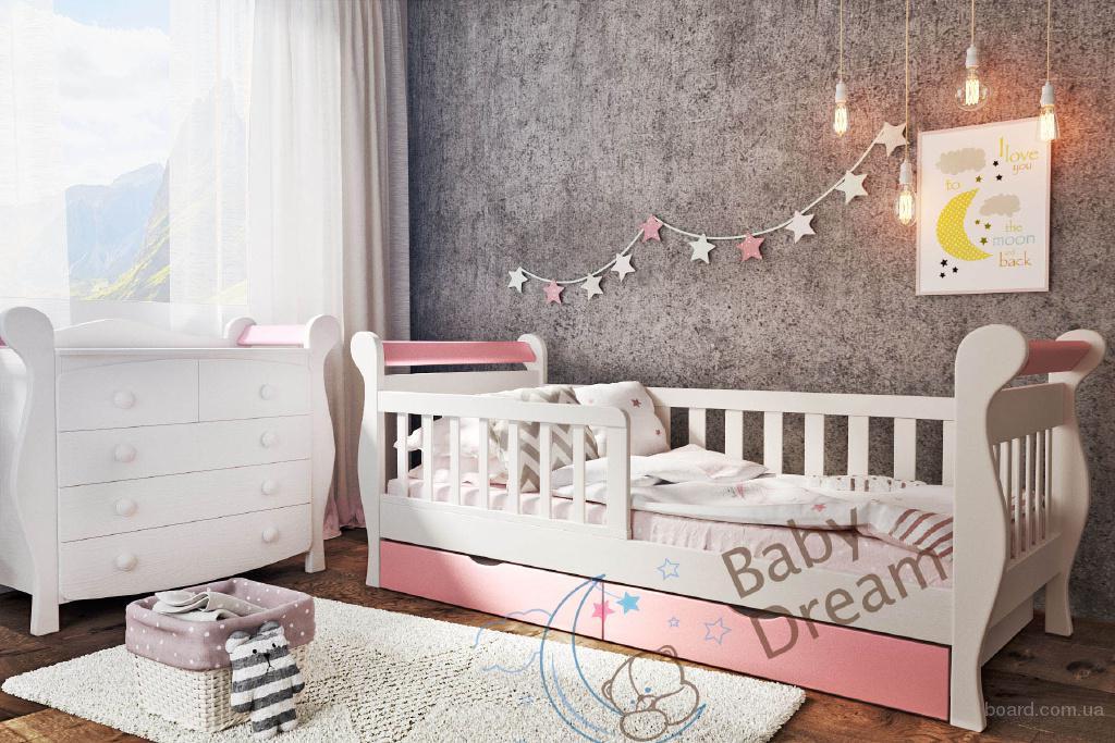 Кровать от 3 лет с бортиками Miss Secret для девочек
