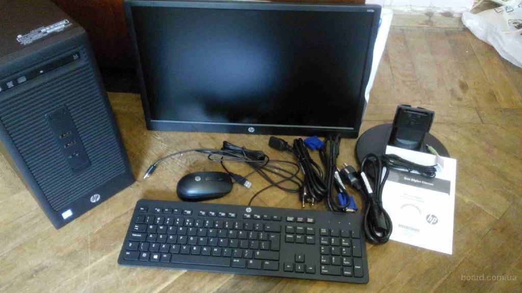 Hewlett-Packard i3-6100 (3.7 ГГц) / RAM 4 ГБ / HDD 500/Монитор+колонки