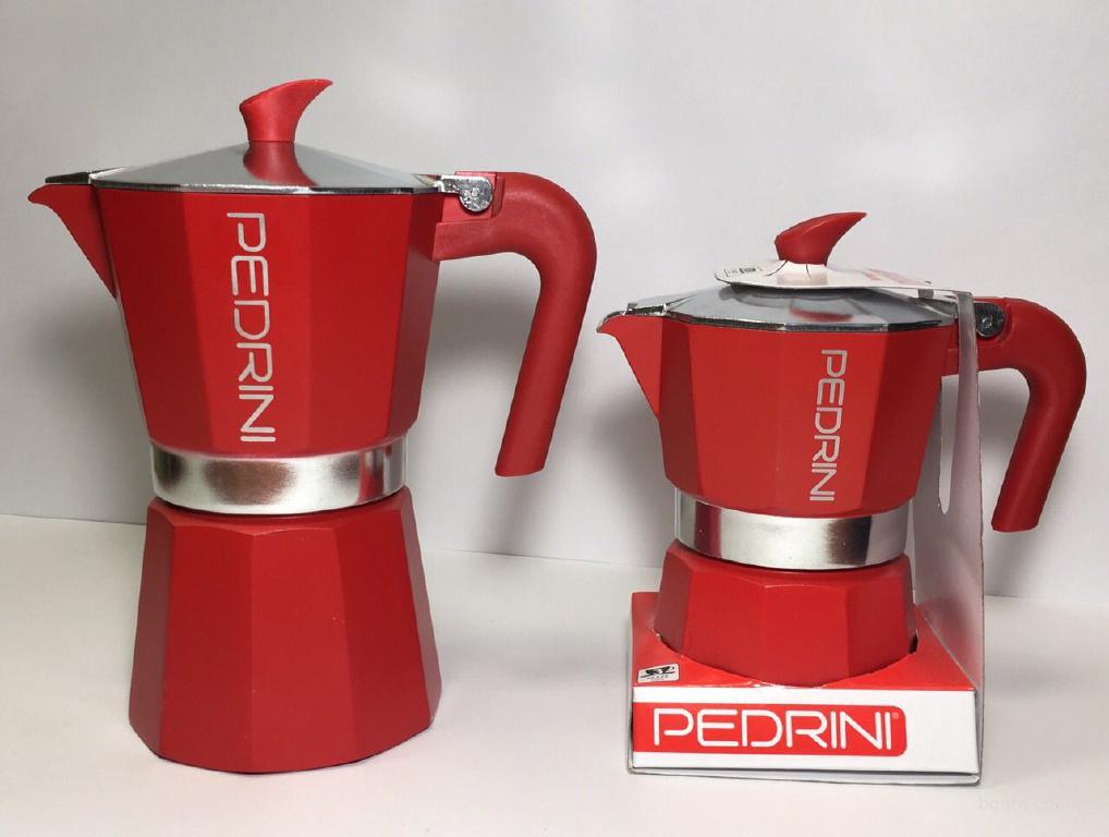 Гейзерна кавоварка Pedrini Алюміній 360 мл Червона (9124-840)