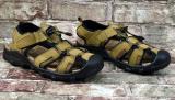 Мужские сандалии хаки натуральная кожа