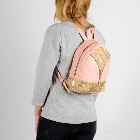 Городской стильный ,кожаный рюкзак - для модных женских образов тренды сезона 2017 по смайл цене.