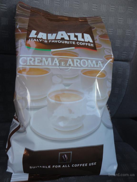 Кофе в зернах Lavazza Crema e Aroma Арабика 40% Робусты 60% 1 кг.