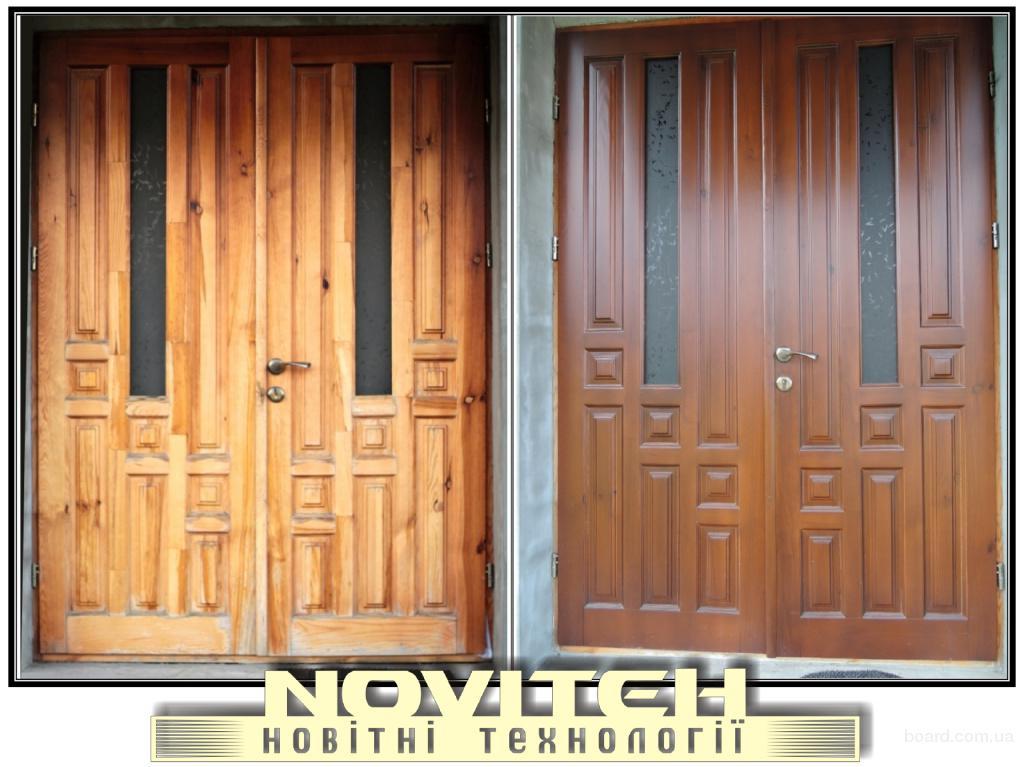 Реставрація дверей, меблів, сходів, кухоннх фасадів і інших виробів.