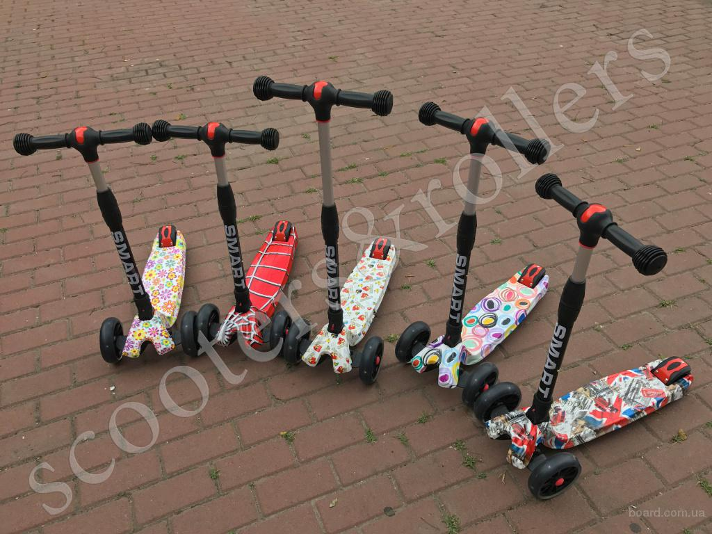 Самокат Ecoline Smart A детский трехколесный со светящимися колесами