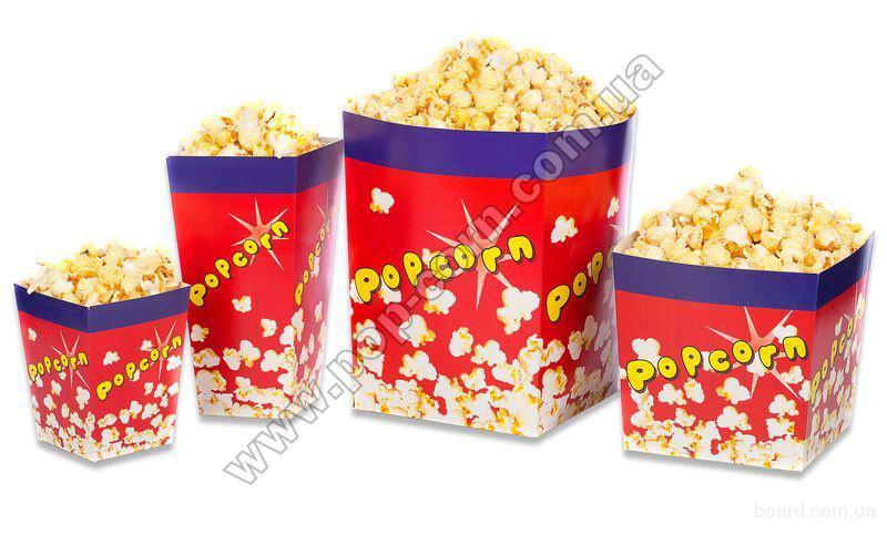 Коробка картонная для попкорна