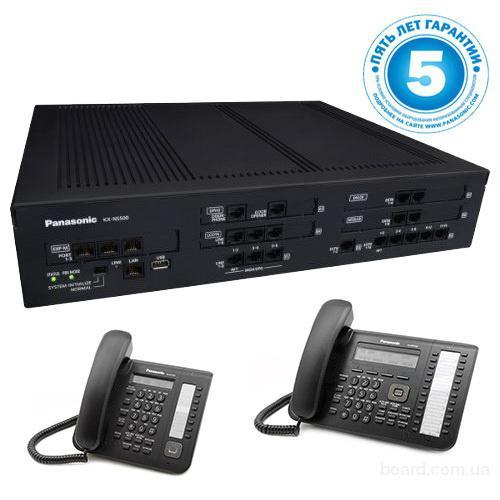 Panasonic KX-NS500UC, IP-АТС – конфигурация: 12 внешних, 32 внутренних, 2 системных телефона