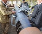 Стальная труба Ø820 мм в гидроизоляции Битумно-полимерная гидроизоляционная система